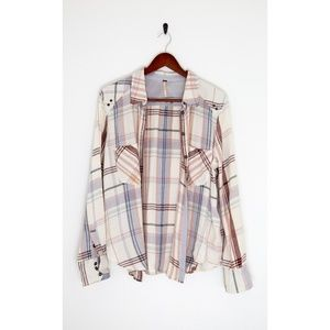 Free People Size Small Flannel Shirt